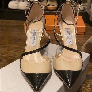 Jimmy Choo two tone strappy pump